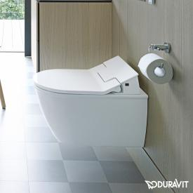 Duravit Darling New wall-mounted washdown toilet Rimless with NEW SensoWash® Slim toilet seat, set white