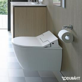 Duravit Darling New wall-mounted washdown toilet with NEW SensoWash® Slim toilet seat, set white