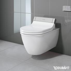 Duravit Darling New wall-mounted washdown toilet with SensoWash® Starck e toilet seat, set white