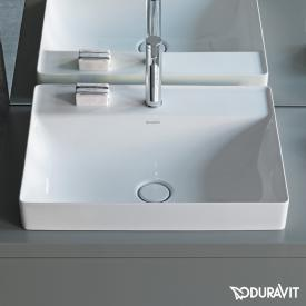 Duravit DuraSquare countertop washbasin white, with WonderGliss, with 1 tap hole