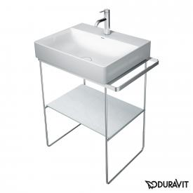 Duravit DuraSquare floorstanding metal console for Compact washbasins chrome