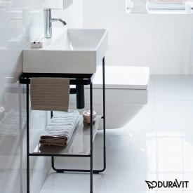 Duravit DuraSquare floorstanding metal console for hand washbasin 45 cm matt black