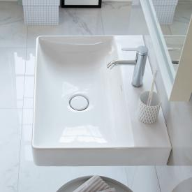 Duravit DuraSquare hand washbasin white, with WonderGliss, with 1 tap hole, ungrounded