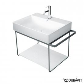 Duravit DuraSquare wall-mounted metal console for Compact washbasins matt black
