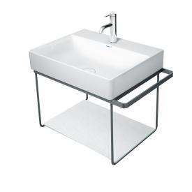 Duravit DuraSquare wall-mounted metal console for Compact washbasins matt black