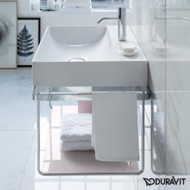 Duravit DuraSquare wall-mounted metal console for washbasins chrome