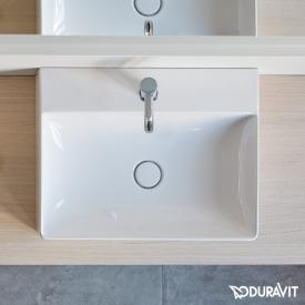 Duravit DuraSquare washbasin white, with 1 tap hole, grounded