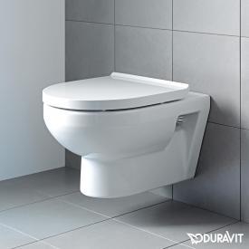 Duravit DuraStyle Basic wall-mounted, washdown, rimless toilet set w. soft-close seat & Durafix