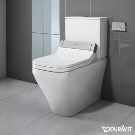 Duravit DuraStyle close-coupled, floorstanding washdown toilet for SensoWash® white, with WonderGliss