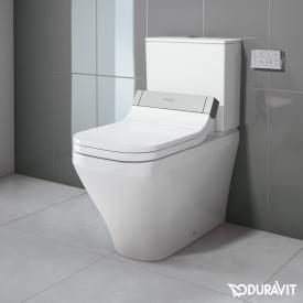 Duravit DuraStyle close-coupled, floorstanding washdown toilet with SensoWash® Starck e toilet seat, set white, cistern with right or left connection