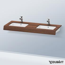 Duravit DuraStyle countertop for 2 countertop wasbasins / drop-in washbasins dark chestnut