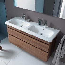 Duravit DuraStyle double washbasin white, with WonderGliss, with 2 tap holes