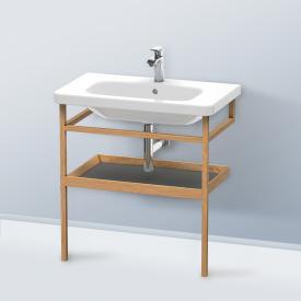 Duravit DuraStyle furniture accessoire towel rail with shelf corpus european oak / shelf matt graphite
