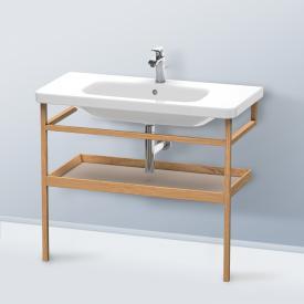 Duravit DuraStyle furniture accessoire towel rail with shelf european oak / matt basalt