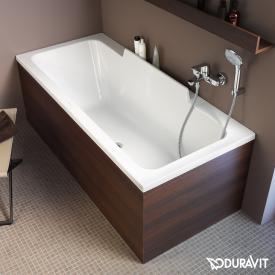 Duravit DuraStyle rectangular bath, built-in or for panelling, slanted backrest left