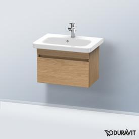 Duravit Durastyle vanity unit with 1 pull-out compartment front european oak / corpus european oak