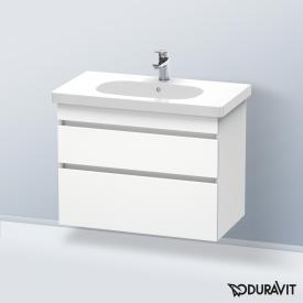 Duravit DuraStyle vanity unit with 2 pull-out compartments front matt white / corpus matt white