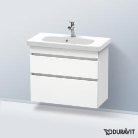 Duravit Durastyle wall-mounted vanity unit with 2 pull-out comparments matt white