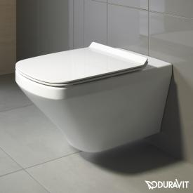 Duravit DuraStyle wall-mounted washdown toilet set, with toilet seat rimless, white, with WonderGliss