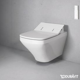 Duravit DuraStyle wall-mounted washdown toilet with NEW SensoWash® Slim toilet seat, set with flushing rim, white