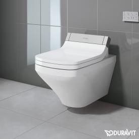 Duravit DuraStyle wall-mounted washdown toilet with SensoWash® Starck e toilet seat, set white, with WonderGliss