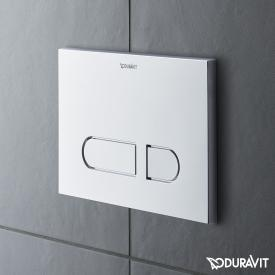 Duravit DuraSystem flush plate A1 for toilet, plastic chrome high gloss/chrome high gloss
