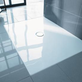 Duravit DuraPlan floor-level shower tray white, with Antislip
