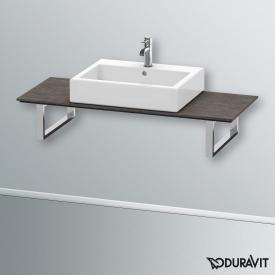 Duravit Happy D.2 console back-to-wall for countertop basin brushed dark oak / 60 cm
