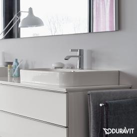 Duravit Happy D.2 countertop washbasin white, with WonderGliss, with 1 tap hole