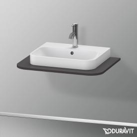 Duravit Happy D.2 Plus console for 1 countertop-/drop-in washbasin super matt graphite