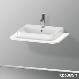 Duravit Happy D.2 Plus console for 1 countertop-/drop-in washbasin white high gloss