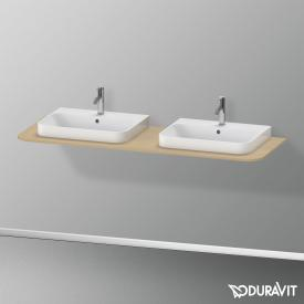 Duravit Happy D.2 Plus console for 2 countertop-/drop-in washbasins mediterranean oak