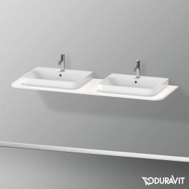 Duravit Happy D.2 Plus console for 2 countertop-/drop-in washbasins white high gloss