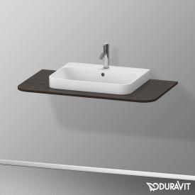 Duravit Happy D.2 Plus console for countertop washbasin brushed walnut