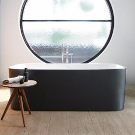 Duravit Happy D.2 Plus freestanding oval bath with panelling matt graphite