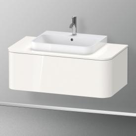 Duravit Happy D.2 Plus Meuble sous-lavabo à LED pour plan de toilette avec 1 tiroir Façade blanc ultra brillant/corps du meuble blanc ultra brillant, sans système d'aménagement