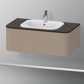 Duravit Happy D.2 Plus Meuble sous-lavabo pour plan de toilette avec 1 tiroir Façade lin/corps du meuble lin, sans système d'aménagement