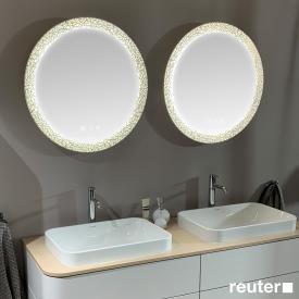 Duravit Happy D.2 Plus mirror set with LED lighting, icon version
