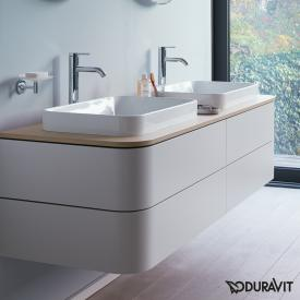Duravit Happy D.2 Plus vanity unit for console with 4 pull-out compartments front silk matt nordic white / corpus silk matt nordic white, without interior system