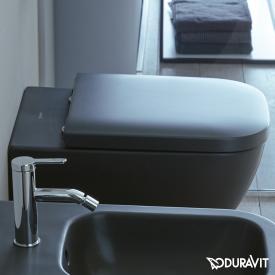 Duravit Happy D.2 toilet seat matt anthracite, with soft-close