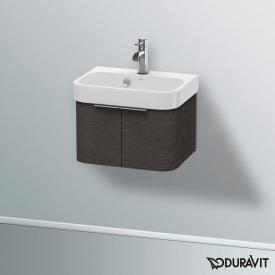 Duravit Happy D.2 wall-mounted vanity unit with 2 doors front brushed dark oak / corpus brushed dark oak