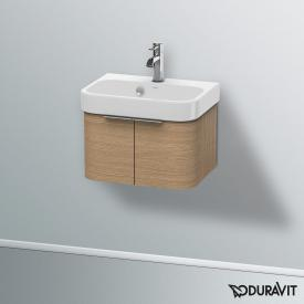 Duravit Happy D.2 wall-mounted vanity unit with 2 doors front european oak / corpus european oak
