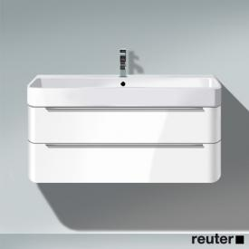 Duravit Happy D.2 vanity unit with 2 pull-out compartments front white high gloss / corpus white high gloss, without interior system