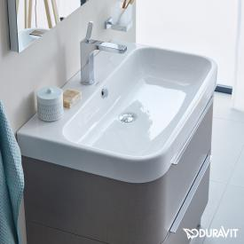 Duravit Happy D.2 vanity washbasin white, with WonderGliss, with 1 tap hole, ungrounded