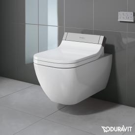 Duravit Happy D.2 wall-mounted washdown toilet for SensoWash® rimless, extended version white, with WonderGliss