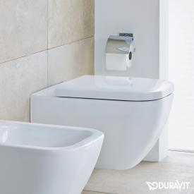 Duravit Happy D.2 wall-mounted, washdown toilet white, with WonderGliss