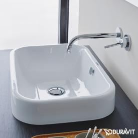 Duravit Happy D.2 countertop washbasin white, with WonderGliss