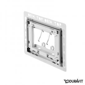 Duravit installation frame, flush-mouted, for DuraSystem chrome high gloss
