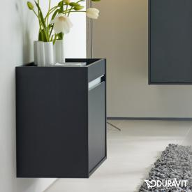 Duravit Ketho low unit with 1 door front matt graphite / corpus matt graphite