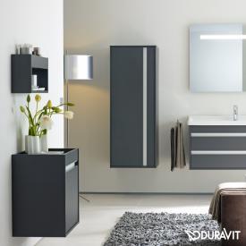Duravit Ketho low unit with 1 door front matt graphite / corpus matt graphite